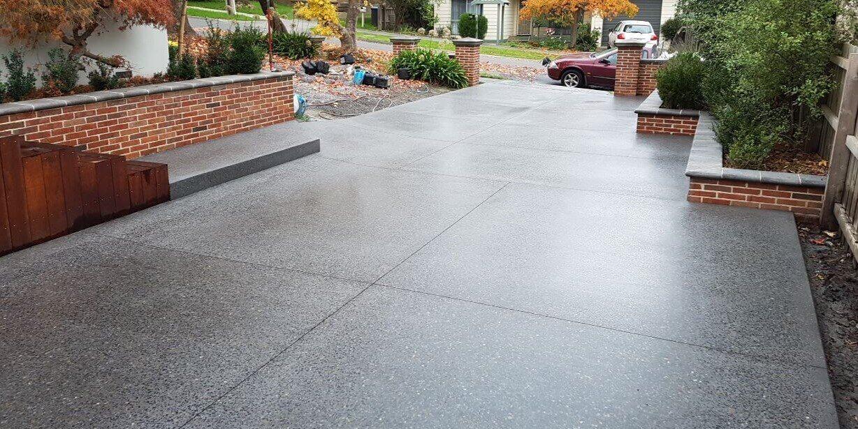 Grindworks polished concrete services acid etching for Acid wash concrete driveway